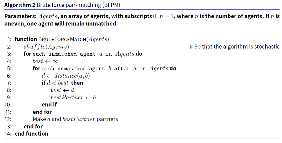 Efficient and Effective Pair-Matching Algorithms for Agent